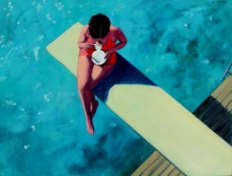 Diving Board Tea Time 36 x 48 inches