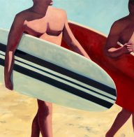 Surfers 48 x 48 inches