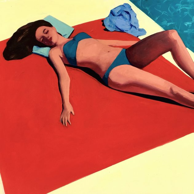 Poolside 18 x 18 inches